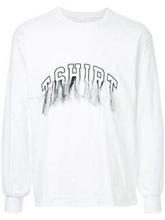 футболка с вышивкой и длинными рукавами Doublet