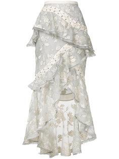 юбка с цветочным декором Zimmermann