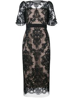 кружевное платье с открытой спиной Nº21
