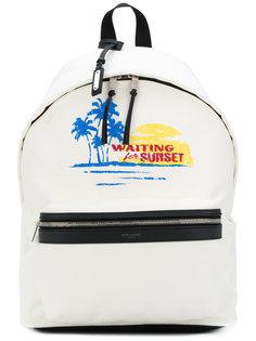 summer printed backpack Saint Laurent