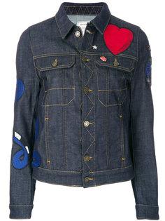 джинсовая куртка с нашивкой сердцем  Zadig & Voltaire
