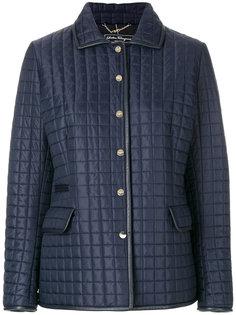 стеганая куртка на кнопках Salvatore Ferragamo