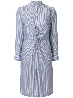 полосатое платье-рубашка  Vince