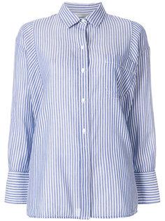 полосатая рубашка свободного кроя Vince