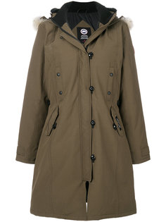 длинное пальто с капюшоном  Canada Goose