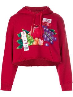 fruit print cropped hoodie Doublet