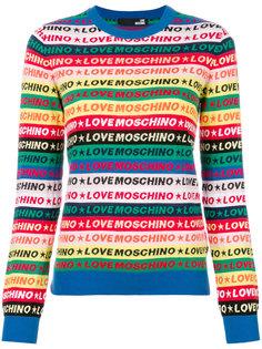 striped logo jumper  Love Moschino