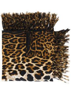 платок с леопардовым узором Saint Laurent
