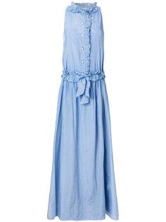 длинное платье с оборками  Lanvin