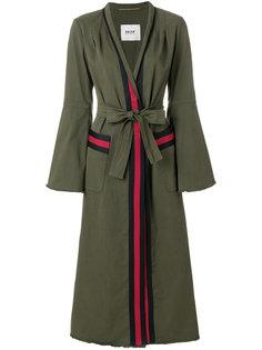 декорированное полосатое пальто  Bazar Deluxe