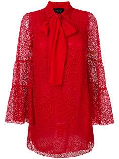 платье с кружевом и бантом Giambattista Valli