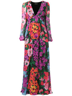 длинное платье с цветочным принтом Twin-Set