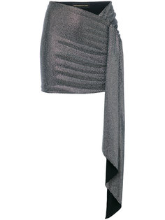 metallic draped mini skirt Alexandre Vauthier