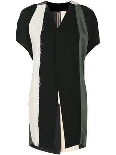 удлиненный полосатый жилет Rick Owens