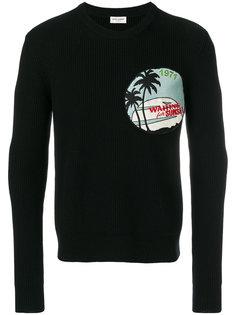 свитер в рубчик Saint Laurent