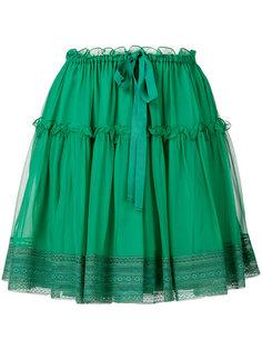юбка с кружевной отделкой Alberta Ferretti