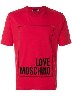 футболка с принтом логотипа в стиле оверсайз Love Moschino