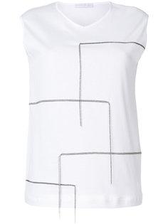 футболка с декоративной строчкой  Fabiana Filippi