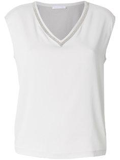 футболка с отделкой и V-образным вырезом  Fabiana Filippi