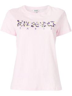 футболка с логотипом и цветочным принтом  Kenzo