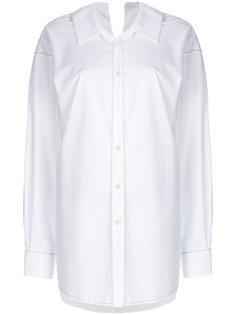рубашка с простроченной отделкой Marni