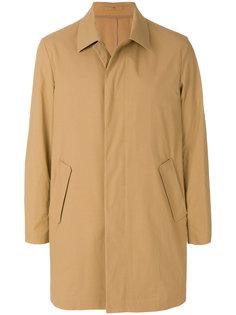 однобортное пальто Paolo Pecora