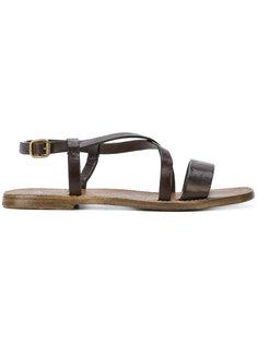cross strap sandals Silvano Sassetti