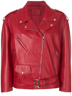 байкерская куртка мешковатого кроя Prada