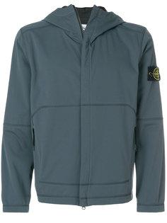 lightweight soft shell SI check grid jacket Stone Island