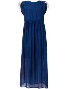 многослойное платье миди без рукавов  Semicouture