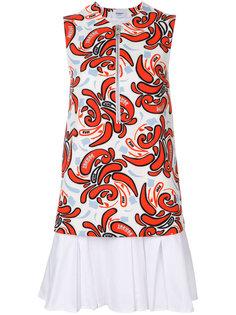 расклешенное платье с принтом  Dondup