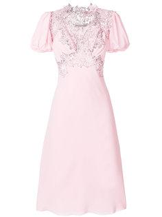 платье с вышивкой Ermanno Scervino