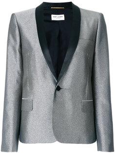 приталенный пиджак с отделкой металлик  Saint Laurent