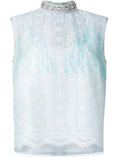 кружевная блузка с отделкой  Marc Jacobs