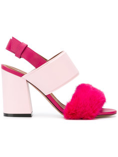 slingback block heel sandals Givenchy