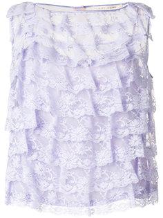 кружевная блузка с оборкой  Marc Jacobs