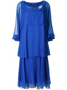 расклешенное платье миди  Alberta Ferretti
