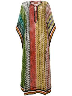 пляжное платье с зигзагообразным узором и логотипом Missoni Mare
