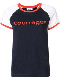 футболка с принтом логотипа Courrèges