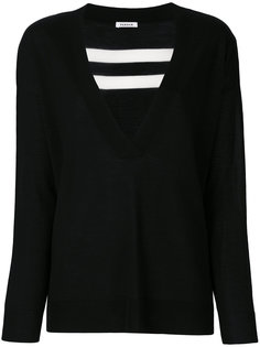 свитер с V-образным вырезом и полосками сзади  P.A.R.O.S.H.