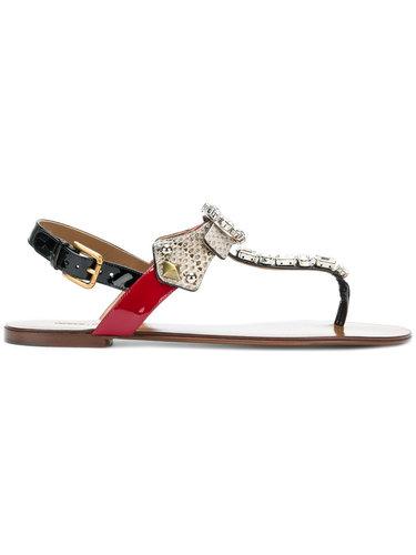 сандалии с тиснением под змеиную кожу Dolce & Gabbana