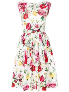 платье с цветочным принтом без рукавов  Dolce & Gabbana