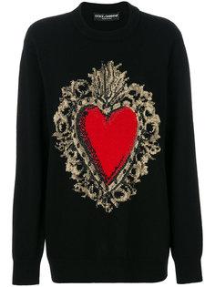 свитер с вышивкой Sacred Heart Dolce & Gabbana