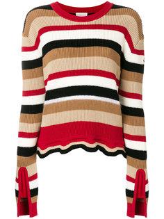 полосатый свитер с рюшами Moncler