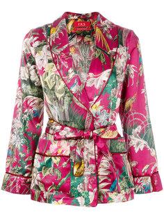 пиджак с цветочным принтом и поясом на талии F.R.S For Restless Sleepers