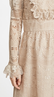 Anna Sui Cupids Clouds & Scallop Lace Dress