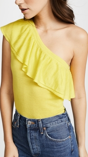 Autumn Cashmere Ruffle One Shoulder Top