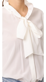 Edition10 Ruffled Silk Blouse