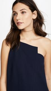 Michelle Mason One Shoulder Shift Dress