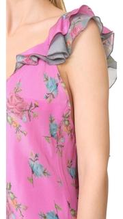 Natasha Zinko Print Silk Slip Dress